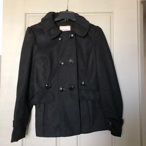 Jackets & Blazers - Black Peacoat